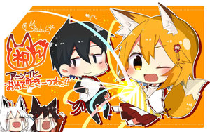 Rating: Safe Score: 0 Tags: 1boy 3girls animal_ear_fluff animal_ears bangs black_hair blonde_hair blush bouquet bra braid brown_hair business_suit chibi crying flower formal fox_ears fox_tail full_body hair_between_eyes hair_flower hair_ornament japanese_clothes long_sleeves miko multiple_girls nakano_(sewayaki_kitsune_no_senko-san) one_eye_closed open_mouth orange_background oversized_object party_popper rimu-chan_(rimukoro) senko_(sewayaki_kitsune_no_senko-san) sewayaki_kitsune_no_senko-san shirakami_fubuki shirakami_fubuki_(artist) signature skin_fang streaming_tears suit tail tears virtual_youtuber white_hair wide_sleeves yellow_eyes User: Domestic_Importer