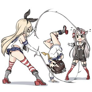 Rating: Safe Score: 1 Tags: 3girls amatsukaze_(kantai_collection) ass black_panties blonde_hair boots brown_hair choker double_dutch dress ebifurya elbow_gloves flying_sweatdrops full_body garter_straps gloves grey_footwear handstand highleg highleg_pantsu highres jump_rope kantai_collection long_hair midriff miniskirt multiple_girls pantsu playing red_legwear ribbon sailor_collar sailor_dress school_uniform serafuku shimakaze_(kantai_collection) shirt short_dress short_hair silver_hair skirt sleeveless sleeveless_shirt striped striped_legwear thighhighs thong twin_tails two_side_up underwear very_long_hair yukikaze_(kantai_collection) User: DMSchmidt