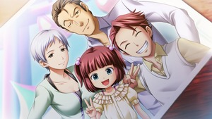 Rating: Safe Score: 0 Tags: 2boys 2girls alternate_costume artist_request bangs blunt_bangs brown_eyes brown_hair closed_eyes collarbone dutch_angle family game_cg grin happy highres husband_and_wife multiple_boys multiple_girls official_art one_eye_closed parent_and_child photo_(object) red_hair shirt short_hair siblings silver_hair smile sweater_vest two_side_up umineko_no_naku_koro_ni ushiromiya_ange ushiromiya_battler ushiromiya_kyrie ushiromiya_rudolf vest white_shirt User: Domestic_Importer