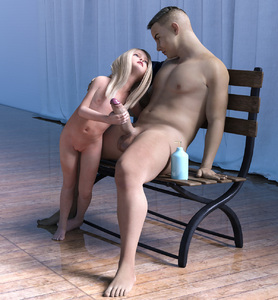 Rating: Explicit Score: 25 Tags: 1boy 1girl 3dcg age_difference barefoot blonde_hair bouba flat_chest holding_penis imminent_fellatio looking_at_partner lube navel nipples nude penis penis_awe pussy sitting standing testicles User: fantasy-lover