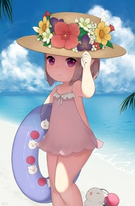 Rating: Safe Score: 2 Tags: 1girl arm_up armpits ayuanlv beach brown_eyes brown_hair casual_one-piece_swimsuit cloud final_fantasy final_fantasy_xiv flower hand_on_headwear hat hat_flower highres innertube lalafell moogle ocean one-piece_swimsuit outdoors pointy_ears short_hair sky smile solo sun_hat swimsuit swimsuit_skirt water User: DMSchmidt