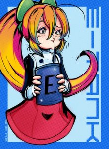 Rating: Safe Score: 0 Tags: 1girl :>= blonde_hair bow capcom dress drinking_straw energy_tank green_eyes hair_bow long_hair ponytail red_skirt rockman rockman_(classic) roll sho-n-d skirt solo straw User: DMSchmidt