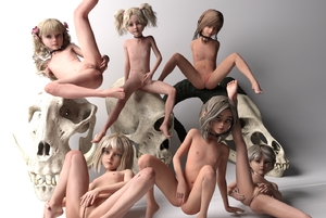 Rating: Explicit Score: 8 Tags: 3dcg 6+girls barefoot bone collar feet flat_chest full_body gradient_background kneepits leaning_back leg_lift libidoll_(tannkobu999) looking_at_viewer masturbation multiple_girls nude original photorealistic pussy spread_legs spread_pussy toes uncensored User: Domestic_Importer