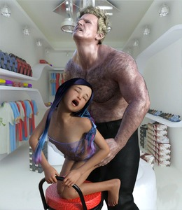 Rating: Explicit Score: 12 Tags: 1boy 1girl 3dcg age_difference barefoot black_hair closed_eyes danbaddriver flat_chest from_behind grimace highres kneeling long_hair nail_polish nipples open_mouth photorealistic sex standing User: fantasy-lover
