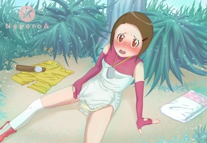Rating: Questionable Score: 1 Tags: artist_request barrette blush brown_hair deviantart diaper digimon digimon_adventure_02 elbow_gloves embarrased gloves nekoroa shorts source_request third-party_source yagami_hikari User: jerrikh