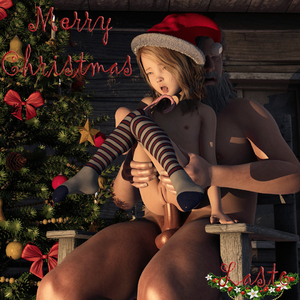 Rating: Explicit Score: 44 Tags: 1boy 1girl 3dcg age_difference anal anal_penetration anal_sex blonde_hair candy_cane christmas christmas_tree closed_eyes draxlasto flat_chest held_up knee_socks long_hair merry_christmas nipples nude open_mouth penis photorealistic pussy rolling_eyes santa_hat sitting socks striped striped_legwear striped_socks testicles thighhighs tongue tongue_out User: yobsolo