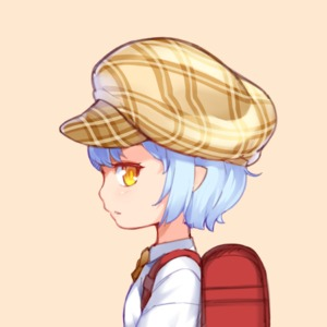 Rating: Safe Score: 2 Tags: 1girl aoi_tsunami backpack bag bangs blue_hair brown_background brown_hat cabbie_hat collared_shirt hat looking_at_viewer looking_to_the_side orange_eyes original parted_lips plaid_hat profile randoseru shirt short_hair simple_background solo white_shirt User: DMSchmidt