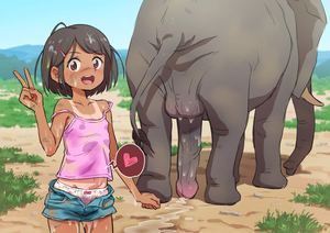 Rating: Explicit Score: 27 Tags: 1girl :d after_sex black_hair blue_sky bow bow_panties collarbone cowboy_shot cum cum_on_body cum_on_hair cum_on_lower_body cum_on_upper_body day denim denim_shorts dora_the_explorer elephant elephant_penis eyebrows_visible_through_hair facial hair_ornament hairclip heart highres implied_bestiality looking_at_viewer navel one-piece_tan open_mouth original outdoors pantsu penis polka_dot polka_dot_panties poruserin short_hair shorts sky smile standing tail tan tanline testicles uncensored underwear upper_teeth v User: Domestic_Importer