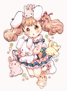 Rating: Safe Score: 0 Tags: 1girl :3 :o animal animal_ears animal_on_head bandaid bandaid_on_knee bangs blush brown_eyes brown_hair bunny bunny_ears bunny_on_head carrot dated dress fake_animal_ears hair_ribbon hairband highres holding holding_stuffed_animal jumping long_hair long_sleeves mokarooru on_head original paw_boots pink_shirt red_ribbon ribbon shirt signature solo stuffed_animal stuffed_bunny stuffed_toy thick_eyebrows traditional_media watercolour_(medium) User: DMSchmidt