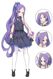 Rating: Safe Score: 1 Tags: 1girl :t bangs bare_arms bare_shoulders black_footwear blush bow breasts dress eyebrows_visible_through_hair fate/grand_order fate_(series) full_body hair_ornament long_hair looking_at_viewer pantyhose parted_bangs ponytail purple_dress purple_eyes purple_hair shiseki_hirame small_breasts smile translation_request twin_tails very_long_hair white_legwear wu_zetian_(fate/grand_order) User: DMSchmidt