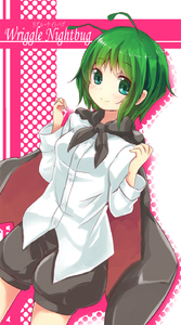 Rating: Safe Score: 0 Tags: 1girl antennae aqua_eyes blush cape character_name green_hair highres looking_at_viewer short_hair smile snowcanvas solo touhou_project wriggle_nightbug User: DMSchmidt
