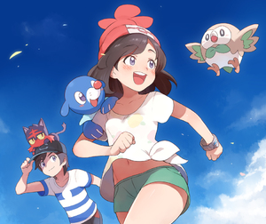 Rating: Safe Score: 0 Tags: 1boy 1girl bangs baseball_cap beanie bird black_hair blue_sky blush bracelet cat cloud from_below hat jewellery litten_(pokemon) mizuki_(pokemon) navel open_mouth outdoors owl pokemon pokemon_(creature) pokemon_(game) pokemon_sm popplio purple_eyes red_hat rowlet running seal shirt short_hair short_shorts shorts sky smile striped striped_shirt swept_bangs t-shirt toku_(ke7416613) yellow_sclera you_(pokemon_sm) User: DMSchmidt