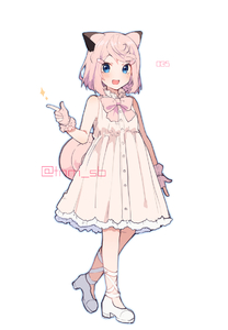 Rating: Safe Score: 0 Tags: 1girl animal_ears artist_name bangs bare_shoulders blue_eyes blush clefairy dress eyebrows_visible_through_hair fang finger_gun fingerless_gloves flat_chest full_body gen_1_pokemon gloves hair_ornament hairclip hand_up happy heel_up ikeuchi_tanuma looking_at_viewer number open_mouth outline personification pink_hair pokemon pokemon_number shiny shiny_hair shoes short_hair simple_background sleeveless sleeveless_dress smile solo sparkle standing swept_bangs twitter_username watermark white_background white_footwear User: DMSchmidt