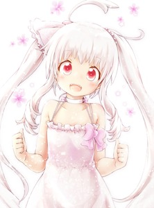 Rating: Safe Score: 1 Tags: 1girl ahoge akino_coto bare_shoulders bow choker dress head_tilt highres long_hair looking_at_viewer open_mouth original red_eyes twin_tails white_background white_hair User: Domestic_Importer
