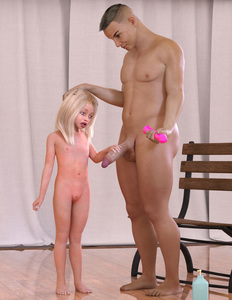 Rating: Explicit Score: 19 Tags: 1boy 1girl 3dcg age_difference barefoot blonde_hair blue_eyes bouba dildo flat_chest hand_on_another's_head navel nipples nude open_mouth penis penis_awe photorealistic sex_toy standing testicles User: fantasy-lover