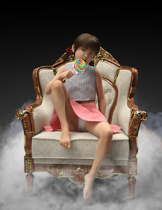 Rating: Safe Score: 29 Tags: 1girl 3dcg bangs bare_arms bare_legs barefoot black_background bow brown_hair candy feet flat_chest fog hair_bow highres lollipop looking_at_viewer open_mouth original panchira pantsu pantyshot_(sitting) photorealistic red_bow sitting sitting_on_chair skirt solo teeth toufu_(tofusan) twin_tails underwear white_pantsu User: Domestic_Importer