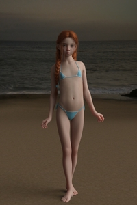 Rating: Safe Score: 39 Tags: 1girl 3dcg aqua_bikini barefoot beach bikini blue_eyes braid flat_chest freckles lizzy_(matari) looking_at_viewer matari micro_bikini navel ocean original outdoors photorealistic pose red_hair sad shadow side-tie_bikini standing swimsuit tied_hair twilight twin_braids User: flondrix