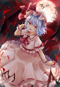 Rating: Safe Score: 0 Tags: 1girl :d ascot bangs bat bat_wings blood blue_hair blush brooch dress eyebrows_visible_through_hair frilled_shirt_collar frills full_moon hair_between_eyes hand_up hat hat_ribbon jewellery looking_at_viewer mob_cap moon open_mouth pink_dress pink_hat puffy_short_sleeves puffy_sleeves red_eyes red_moon red_neckwear red_ribbon red_sky remilia_scarlet renka_(cloudsaikou) ribbon ribbon-trimmed_dress ribbon_trim short_hair short_sleeves sky smile solo touhou_project wings wrist_cuffs User: DMSchmidt