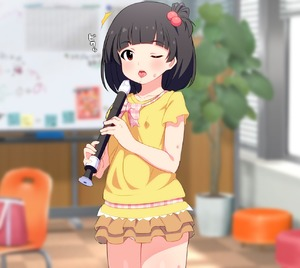 Rating: Safe Score: 9 Tags: /\/\/\ 1girl bangs black_hair blinds blurry blurry_background blush brown_eyes brown_skirt chair collarbone cowboy_shot day depth_of_field eyebrows_visible_through_hair hair_bobbles hair_ornament holding holding_instrument idolmaster idolmaster_million_live! idolmaster_million_live!_theater_days indoors instrument joutarou layered_skirt long_hair looking_at_viewer nakatani_iku one_eye_closed one_side_up pantsu panty_peek parted_lips plant potted_plant recorder saliva saliva_trail shirt short_sleeves skirt solo sweat tongue tongue_out tree underwear upper_teeth white_pantsu window yellow_shirt User: Domestic_Importer