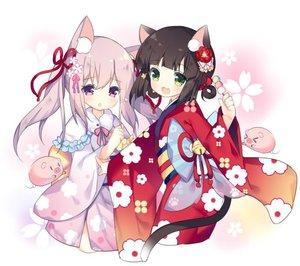 Rating: Safe Score: 2 Tags: 2girls animal_ears azur_lane bell brown_hair cat_ears cat_tail dango floral_print flower food green_eyes hair_flower hair_ornament japanese_clothes jingle_bell kimono kisaragi_(azur_lane) long_hair multiple_girls mutsuki_(azur_lane) new_year obi open_mouth pig pink_eyes pink_hair pink_kimono red_kimono ribbon sash short_hair smile tail tsukimi_(xiaohuasan) twin_tails wagashi User: DMSchmidt
