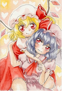 Rating: Safe Score: 0 Tags: 2girls bat_wings blonde_hair dress flandre_scarlet frilled_skirt frills hat hat_ribbon highres hug hug_from_behind lavender_hair mob_cap multiple_girls puffy_short_sleeves puffy_sleeves red_eyes remilia_scarlet ribbon short_hair short_sleeves skirt smile touhou_project wavy_mouth wings yuuki_chima User: DMSchmidt