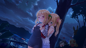 Rating: Safe Score: 0 Tags: !! 3girls :< backpack bag black_hair blonde_hair blush bunny city cityscape cloud dress earrings flying_sweatdrops full-face_blush green_eyes hair_bobbles hair_ornament heart heart-shaped_pupils highres hug hug_from_behind ifnil jewellery long_hair mountain multiple_girls night night_sky open_mouth original outdoors peeking randoseru red_eyes ribbon robot scrunchie shirt short_hair side_ponytail sky star_(sky) strap_slip striped striped_shirt sundress surprised symbol-shaped_pupils tree twin_tails white_dress yuri User: Domestic_Importer