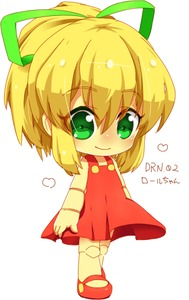 Rating: Safe Score: 0 Tags: 1girl capcom chibi doll_joints dress green_eyes hair_ribbon kisetsufuu looking_at_viewer mary_janes no_socks ponytail red_dress ribbon rockman rockman_(classic) roll shoes sidelocks solo User: DMSchmidt