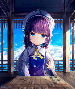 Rating: Safe Score: 1 Tags: 1girl absurdres antenna_hair beret blue_eyes blue_sky blue_vest blurry blush board_game buttons closed_mouth cloud cloudy_sky collared_shirt day depth_of_field exitb frills hat head_tilt highres hinatsuru_ai holding light_particles long_hair long_sleeves looking_at_viewer low_twintails neck_ribbon outdoors purple_hair reflection ribbon ryuuou_no_oshigoto! shirt shougi sidelocks sitting sky solo sunlight twin_tails twitter_username vest white_hat white_shirt yellow_neckwear User: Domestic_Importer