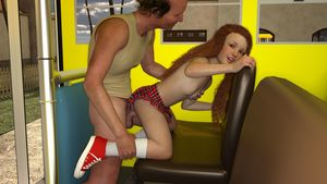 Rating: Explicit Score: 21 Tags: 1boy 1girl 3dcg age_difference breasts from_behind kneeling long_hair looking_at_viewer lunarctic nipples penis photorealistic red_hair school_bus school_uniform sex shoes skirt small_breasts smile socks standing testicles User: fantasy-lover