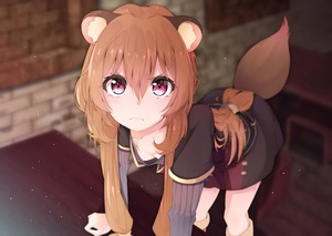 Rating: Safe Score: 6 Tags: 1girl >:( animal_ears bent_over breasts cleavage downblouse dress highres indoors long_hair long_sleeves looking_at_viewer murata_ryou no_bra purple_eyes raccoon_ears raccoon_tail raphtalia short_sleeves sidelocks small_breasts solo tail tate_no_yuusha_no_nariagari User: DMSchmidt