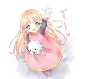 Rating: Safe Score: 0 Tags: 1girl alouette_(rockman_zero) android bangs blonde_hair blue_eyes blush cat dress eyebrows_visible_through_hair from_above full_body gloves illness1004 long_hair looking_at_viewer pink_dress robot_ears rockman rockman_zero smile solo stuffed_animal stuffed_cat stuffed_toy white_background white_gloves User: DMSchmidt