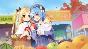 Rating: Safe Score: 1 Tags: 6+girls :d ahoge animal_ears apple apron azur_lane baby banana beret bird blonde_hair blue_hair blue_sky brown_hair capelet cat_ears chick cleveland_(azur_lane) corn faceless faceless_female food fruit grapes hair_ornament hat helena_(azur_lane) highres holding kisaragi_(azur_lane) leaf long_hair mandarin_orange multiple_girls mutsuki_(azur_lane) one_side_up open_mouth orange_eyes person_carrying purple_eyes school_hat school_uniform sky smile stall tomato tree tsubasa_tsubasa watermelon User: DMSchmidt