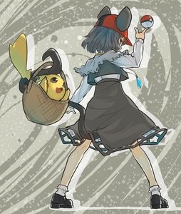 Rating: Safe Score: 0 Tags: 1girl animal_ears baseball_cap basket capelet dress from_behind grey_eyes grey_hair hat jewellery long_sleeves looking_back minatsuki_(sitsu) mouse_ears mouse_tail nazrin pendant pikachu poke_ball pokemon pose short_hair tail touhou_project User: DMSchmidt