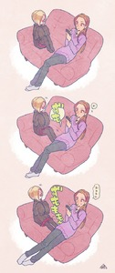 Rating: Safe Score: 0 Tags: 10s 3koma age_difference artist_name asymmetrical_hair black_legwear blonde_hair brown_hair cellphone comic couch ear_piercing hair_over_one_eye hands_in_sleeves height_difference highres hood hood_down hoodie idolmaster idolmaster_cinderella_girls jewellery kyo_(kyokuto016) long_sleeves matsunaga_ryou necklace pants pantyhose phone piercing pushing red_eyes red_skirt shirasaka_koume signature sitting skirt sleeves_past_wrists smartphone socks speech_bubble stretched_limb sweater User: DMSchmidt