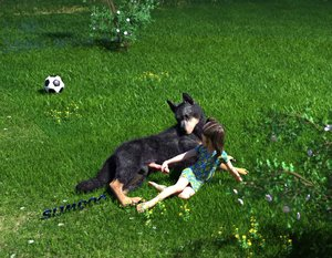 Rating: Explicit Score: 8 Tags: 1girl 3dcg barefoot bestiality dog dress football grass holding_penis looking_back oscar penis penis_awe photorealistic sally-slimdog slimdog tail testicles twin_tails User: fantasy-lover