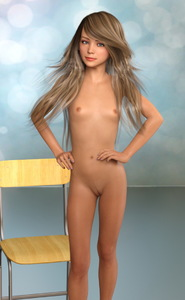 Rating: Questionable Score: 14 Tags: 1girl 3dcg breasts brown_eyes brown_hair chair hands_on_hips long_hair looking_at_viewer modeling nipples nude photorealistic pussy small_breasts solo spectre standing tan teenage User: Software
