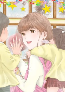 Rating: Safe Score: 3 Tags: 1boy 2girls :d black_shorts brown_eyes brown_hair closed_eyes eighth_note ennu eye_contact frills hair_bobbles hair_ornament highres hug hug_from_behind kindergarten long_sleeves looking_at_another multiple_girls musical_note open_mouth original paper_chain pink_skirt red_skirt reflection scrunchie shirt shorts sitting skirt smile snowflakes star teacher window yellow_shirt User: DMSchmidt