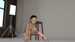 Rating: Explicit Score: 3 Tags: 1girl 3dcg erazer216 flat_chest looking_at_viewer nude photorealistic pose pussy shoes socks squatting studio worried User: fantasy-lover