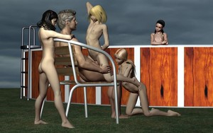 Rating: Explicit Score: 2 Tags: 1boy 3dcg 4girls age_difference ass black_hair blonde_hair chair cloud cowgirl_position feet flat_chest kneeling multiple_girls nipples nude open_mouth outdoors penis photorealistic pool pool_ladder pussy sex sitting sitting_on_lap sky uncensored vaginal viper viper_3d_lolicon_pack watching User: Software