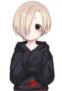 Rating: Safe Score: 0 Tags: 10s 1girl bags_under_eyes blonde_hair blush dancho earrings hair_over_one_eye hood hoodie idolmaster idolmaster_cinderella_girls jewellery looking_at_viewer piercing red_eyes shirasaka_koume short_hair sleeves_past_wrists smile solo User: DMSchmidt