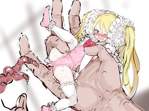 Rating: Explicit Score: 1 Tags: 1girl ass blonde_hair blue_eyes blush gulp5959 hands highres imminent_rape leg_up leotard long_hair minigirl nose_blush one_eye_closed open_mouth original pink_footwear pink_leotard restrained scrunchie sketch socks spread_legs tears tentacles thighhighs twin_tails very_long_hair white_legwear User: Domestic_Importer