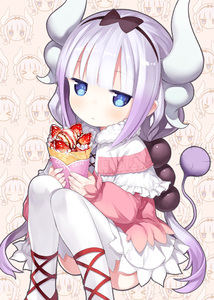 Rating: Safe Score: 0 Tags: 10s 1girl black_hairband blue_eyes blush capriccio crepe dragon_girl dragon_horns food fruit hairband horns kanna_kamui kobayashi-san_chi_no_maidragon lavender_hair long_hair looking_at_viewer skirt solo strawberry tail thighhighs twin_tails white_legwear white_skirt User: Domestic_Importer