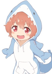 Rating: Safe Score: 1 Tags: 1girl :d animal_costume animal_hood costume cowboy_shot eyebrows_visible_through_hair fang hatafuta hood hoodie hoshino_hinata long_sleeves looking_at_viewer open_mouth orang orange_hair outstretched_arm red_eyes shark_costume short_hair simple_background smile solo spread_arms standing watashi_ni_tenshi_ga_maiorita! white_background User: Domestic_Importer