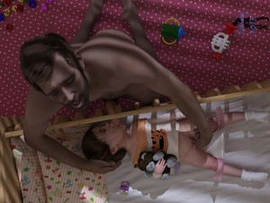 Rating: Explicit Score: 82 Tags: 1boy 1girl 2017 3dcg age_difference artist_name brown_hair closed_eyes crib fellatio fingering hand_on_another's_head highres kneeling lying molest molestation nude on_back open_mouth oral original penis photorealistic profile pussy sleeping slimdog toddlercon uncensored User: Domestic_Importer