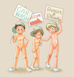Rating: Explicit Score: 2 Tags: 1boy 2girls blonde_hair blue_eyes blush body_writing brown_eyes brown_hair edit genderswap hat little_penis looking_at_viewer mitsui_jun multiple_girls nude penis pussy short_hair shota sign smile standing tomboy User: DMSchmidt
