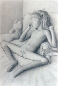 Rating: Explicit Score: 44 Tags: 1girl bangs blunt_bangs brian_babinski clitoral_hood closed_eyes doll knees_apart_feet_together legs_apart lying navel nipples nude on_bed pillow pussy sleeping socks teddy_bear thumb_sucking twin_tails User: mythified