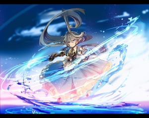 Rating: Safe Score: 0 Tags: 1girl armour armoured_boots armoured_dress blonde_hair blue_dress blue_eyes blurry boots breastplate charlotta_fenia closed_mouth crown depth_of_field draph dress frilled_dress frilled_skirt frills furrowed_eyebrows gauntlets granblue_fantasy greaves hair_between_eyes hair_blowing harvin highres holding holding_sword holding_weapon layered_dress long_hair looking_at_viewer outstretched_arm pointy_ears puffy_short_sleeves puffy_sleeves sanamisa shield short_sleeves skirt solo standing sword very_long_hair water weapon wind User: DMSchmidt