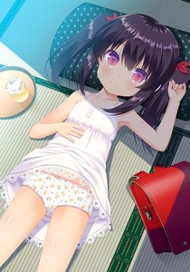 Rating: Safe Score: 5 Tags: 1girl animal_print backpack bag bangs bare_arms bare_shoulders bear_panties bear_print black_hair blush bow bow_panties breasts cameltoe closed_mouth collarbone cup cushion dress dress_lif gaou original pantsu underwear User: Domestic_Importer