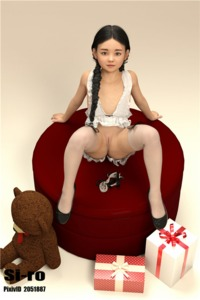 Rating: Questionable Score: 17 Tags: 1girl 3dcg black_hair gift long_hair photorealistic presenting pussy siro sitting smile spread_legs stuffed_animal stuffed_toy thighhighs User: fantasy-lover