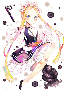 Rating: Safe Score: 2 Tags: 1girl abigail_williams_(fate/grand_order) bangs black_dress black_footwear blonde_hair bloomers blue_eyes blush braid butterfly_hair_ornament dress fate/grand_order fate_(series) forehead full_body hair_ornament heart highres key long_hair long_sleeves looking_at_viewer mao_ge oversized_object parted_bangs parted_lips shirt shoes sidelocks sleeveless sleeveless_dress sleeves_past_fingers sleeves_past_wrists solo stuffed_animal stuffed_toy teddy_bear tentacles underwear very_long_hair white_background white_bloomers white_shirt User: DMSchmidt